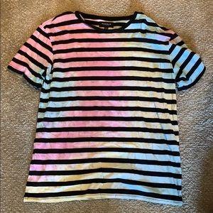 Men's pacsun basic tie dye striped shirt